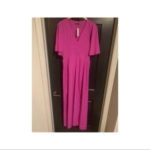 Open side Kimono Sleeve Maxi Dress